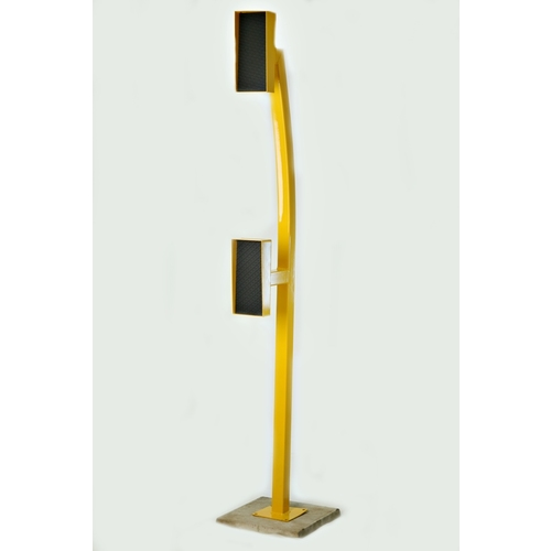 Truck & Car Bollard Double Goose Neck Curved YELLOW