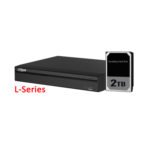 Dahua 4ch NVR Record Up to 8MP, 4 Port PoE,HDMI(4K), Smart 2.0, P2P, HDD-2TB installed