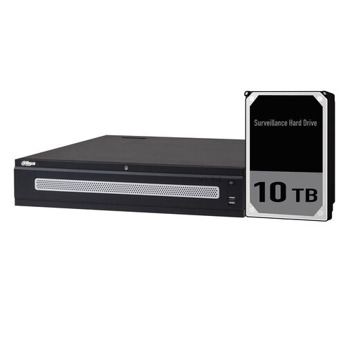 Dahua 128ch Ultra NVR Record Up to 12MP,RAID,2x HDMI(4K), 2xEthernet Ports, Face Detection, POS, ANPR, Redundant Power, HDD-10TB installed