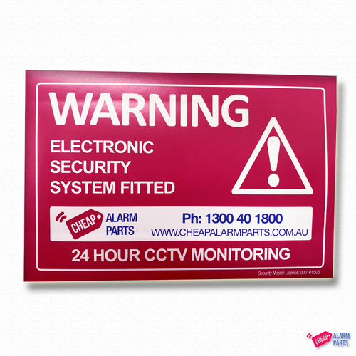 Pink Warning Sticker 130mm x 90mm