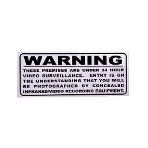 Outside Surveillance Warning Sticker