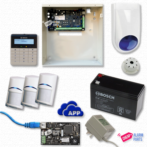 Bosch Solution 3000-IP + 3 PIRs + Text Keypad