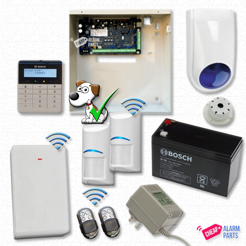 Bosch Solution 3000 + 2 Wireless Tri-Techs (Pet Proof) + Alpha Text Keypad + P/KFOB