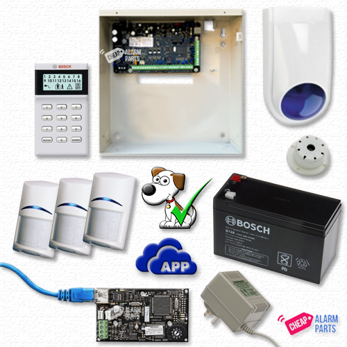 Bosch Solution 3000-IP + 3 Tri-Techs (Pet Proof) + Icon Keypad