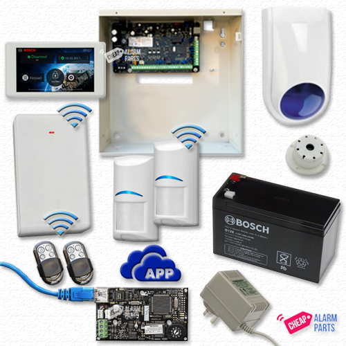 "Bosch Solution 3000 IP Cloud Kit + 2 Wireless PIRs + 5"" Touch Screen Keypad + P/KFOB"